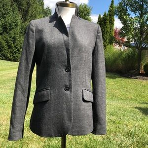 J. Crew black and white tweed blazer
